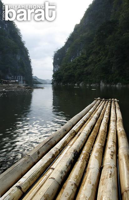 bamboo raft in wawa dam
