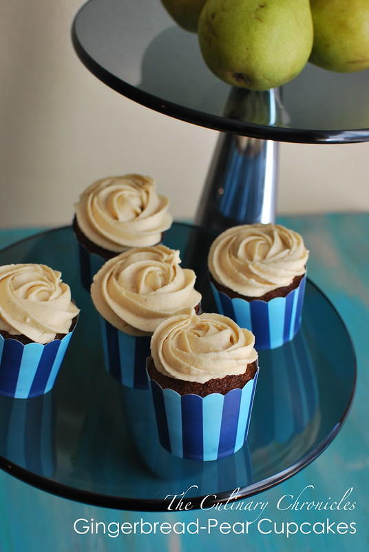 Gingerbread-Pear Cupcakes