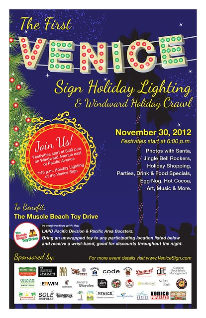 The Inaugural Holiday-theme Venice Sign Display