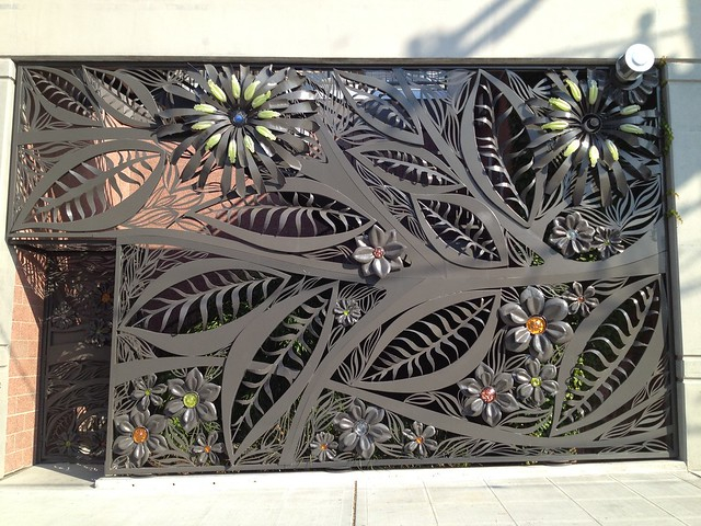 Large decorative metal gate
