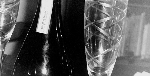 Bottle and Glass - Pentax Espio 120mi by 35mm_photographs