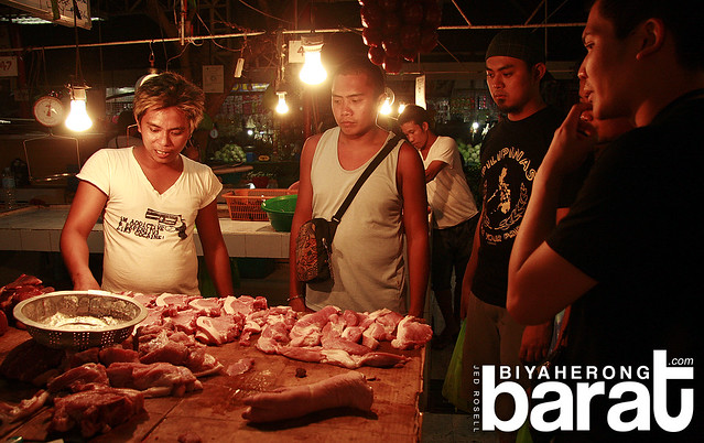 meat section in d talipapa boracay