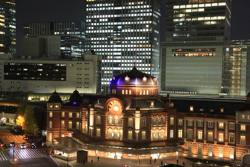 New Old Tokyo Station Night View (test ISO16000)