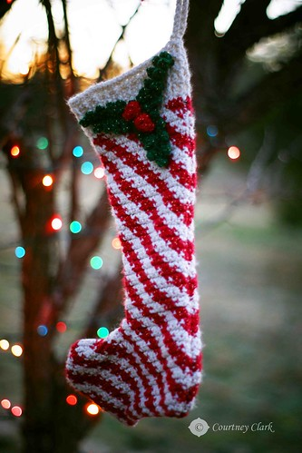 "18. ""Stocking"" Crocheted Candy Cane Stocking by courtneyec90"