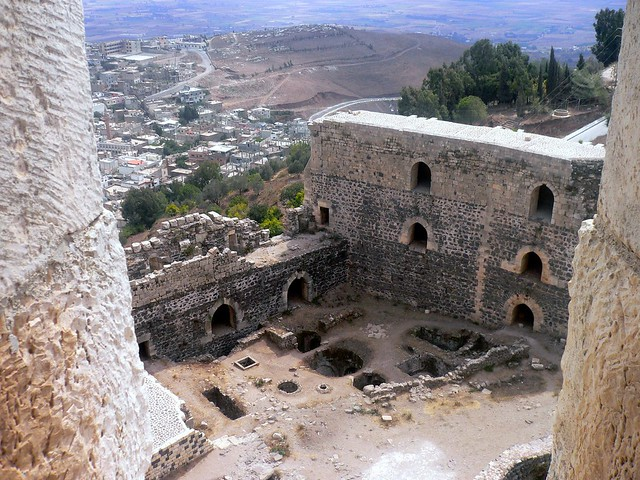 The view from inside Crac des Chevaliers, Syria
