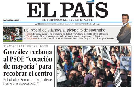 12l03 Portada El País 3 diciembre 2012 3 Uti 465