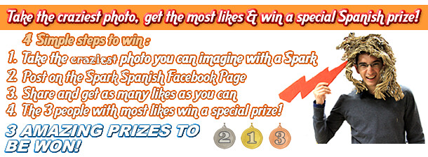 Take the craziest photo get the most likes & win a special Spanish prize!
