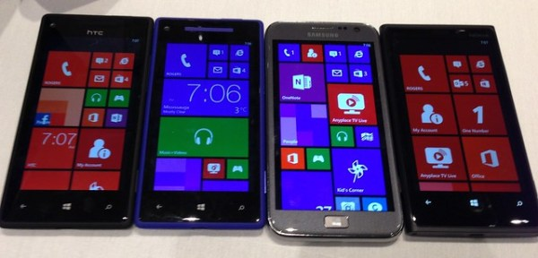 Checking out a gaggle of Windows Phone 8 devices