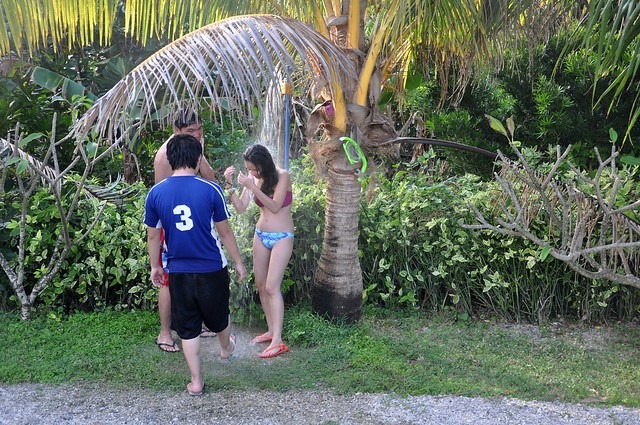 Siblings under the coconut tree