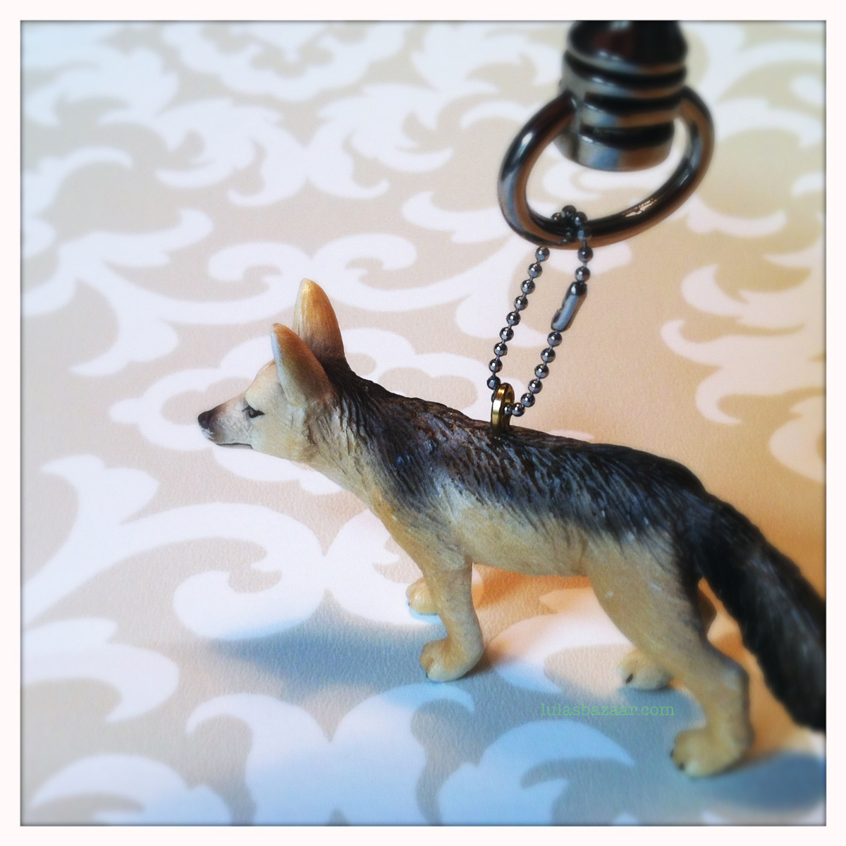 DIY key chain with toy german shepard