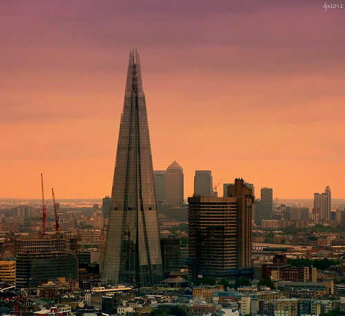 The Shard and Canary Wharf