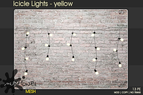 mudhoney icicle lights yellow