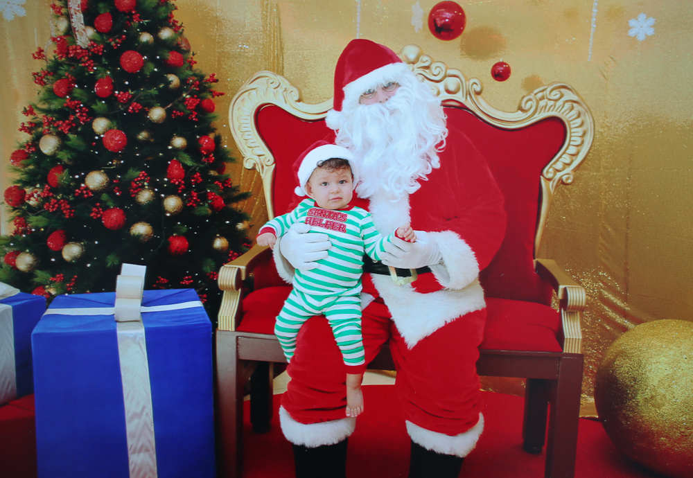 Cam's First Santa Experience