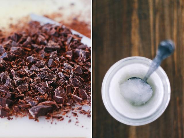 Valrhona chocolate and unrefined coconut oil