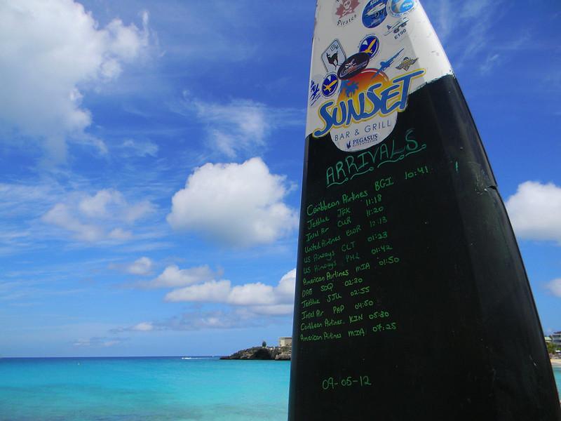 Tiempos de vuelo en Maho Beach