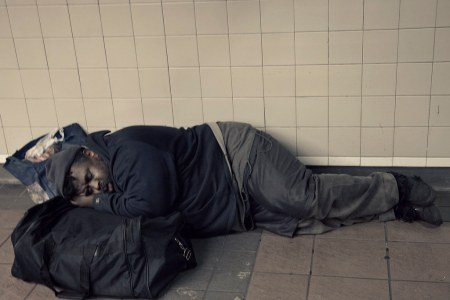 New York City :  Subway Sleeper