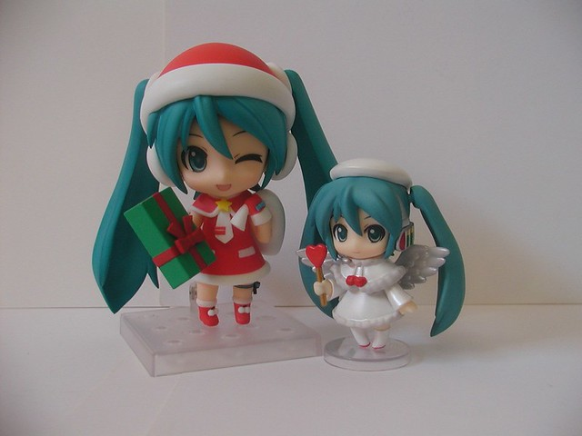 Displayed along with Santa Miku