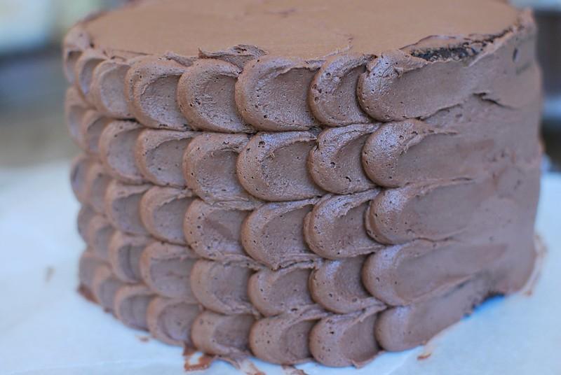 Chocolate Raspberry Petal Cake