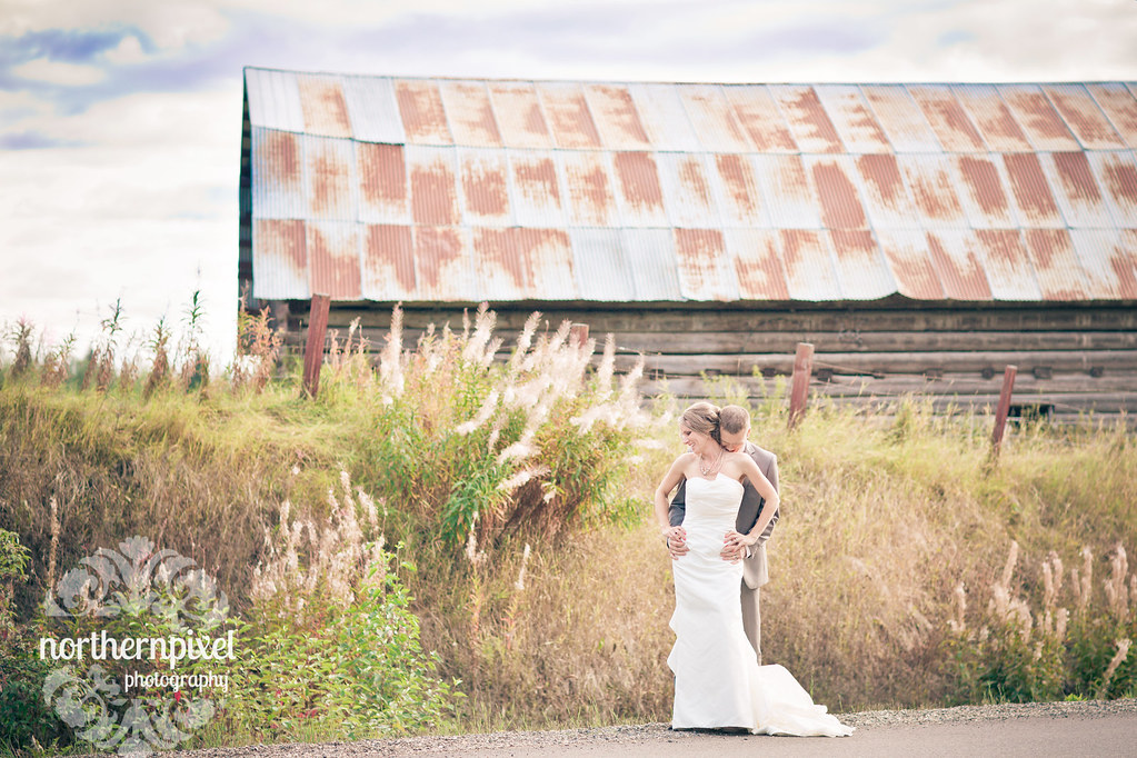 Chrissy & Nathan Vintage Barn Wedding Miworth Prince George Backyard