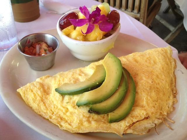 Roasted veggie omelette - Island Lava Java