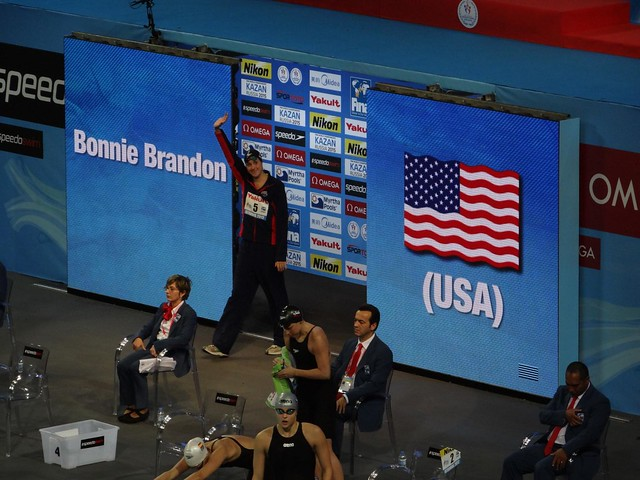 Bonnie Brandon entering the Istanbul 2012 arena
