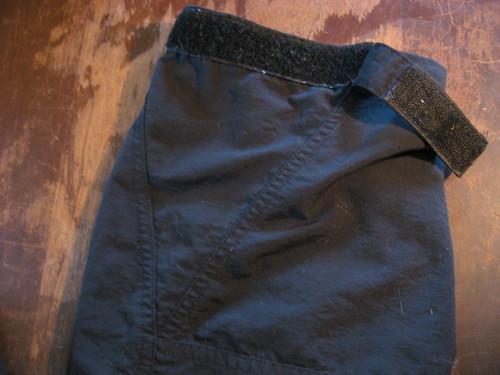Velcro pants cuff