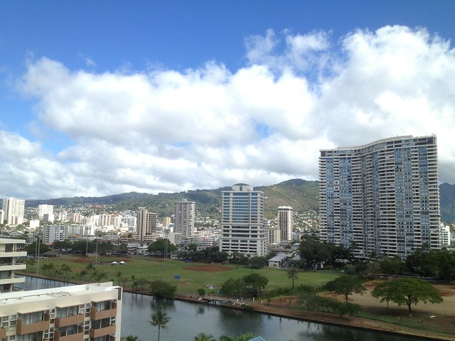 View of downtown Honolulu