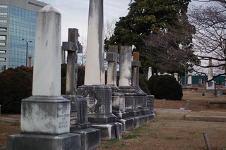 Tall Headstones - Christ Church Cemetery