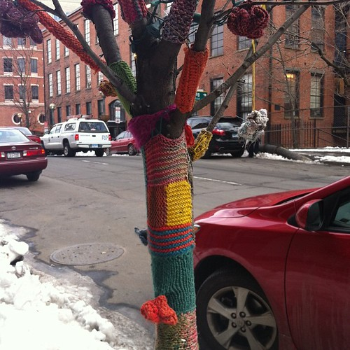 #yarn #bomb out front
