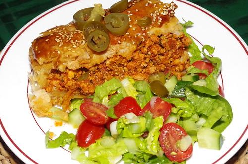 Mexican-flavoured turkey mince pie by La belle dame sans souci