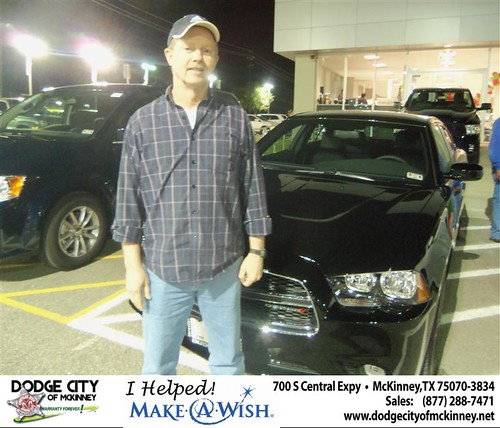 Congratulations to DANIEL WILLIAM CARSON on the 2013 DODGE CHARGER by Dodge City McKinney Texas