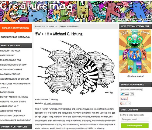 Interview with Creature Mag! by Michael C. Hsiung