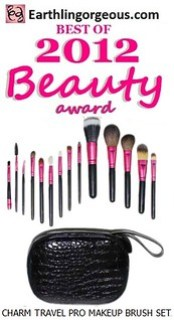 EG Beauty Awards 2012 Charm Travel Pro Makep Brush Set