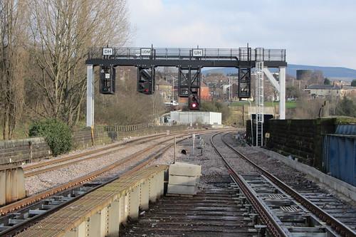 Stalybridge Station, signal gantry