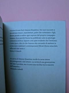 Simone Bisantino, Il ragazzo a quattro zampe. Caratteri Mobili 2012. Pr. grafico e impaginazione: Michele Colonna; ill. di Giuseppe Incampo. pag. [76] (part.), 1