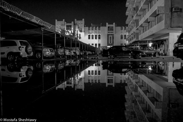 Mirrored in the rain
