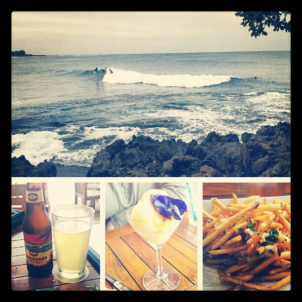 #sorbet #surfing #frenchfries #happiness on #Oahu #Hawaii so much #aloha i can't even worry about anything