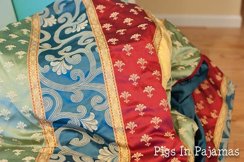 Old bedspread fabric