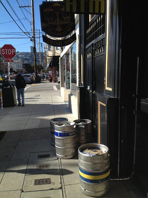 Beer kegs at The Dubliner pub