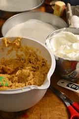 Sweet Potato Torte - Batter and Meringue