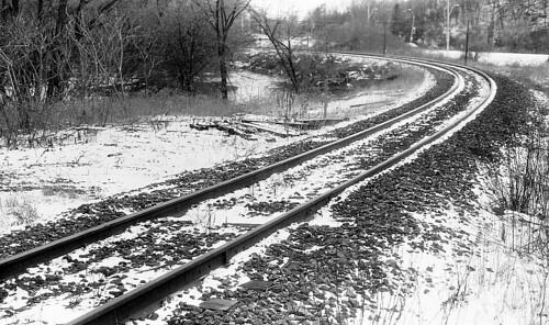 Tracks at Base of Pottery Road