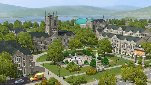First Screenshots & Box Art of Sims 3 University Life (1/6)