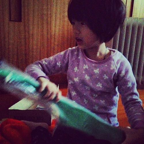 聖誕老阿杯送的烏克麗麗還是summer指定的綠色