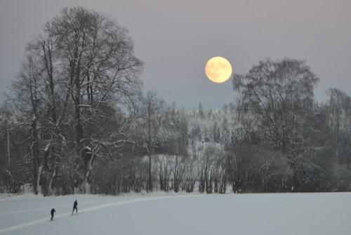 Skitur i måneskinn / Moonlight skiing