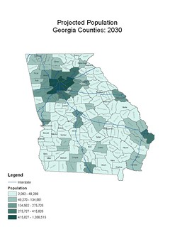 2030 Population of Georgia Counties