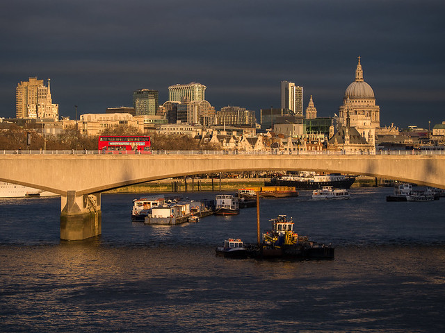 Late afternoon light on St Paul's - colour version