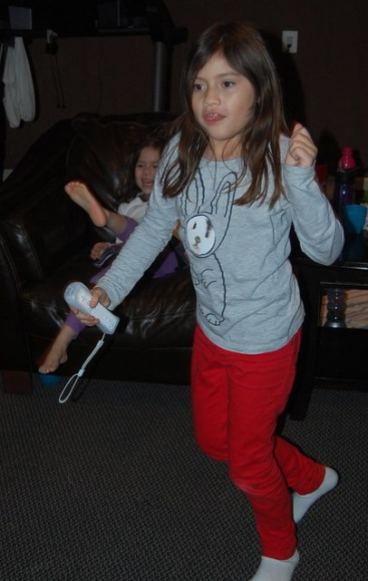 Playing Just Dance Disney Party