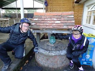 Linda & Nick at the wishing well