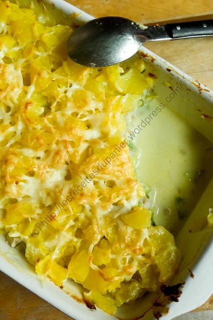 Gratin de pommes de terre, poireaux et lieu noir / Potato, Leek and Coalfish Gratin