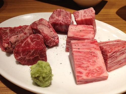 厚切り和牛ハラミ&和牛リブロース@焼肉スタジアム JAN(ジャン)